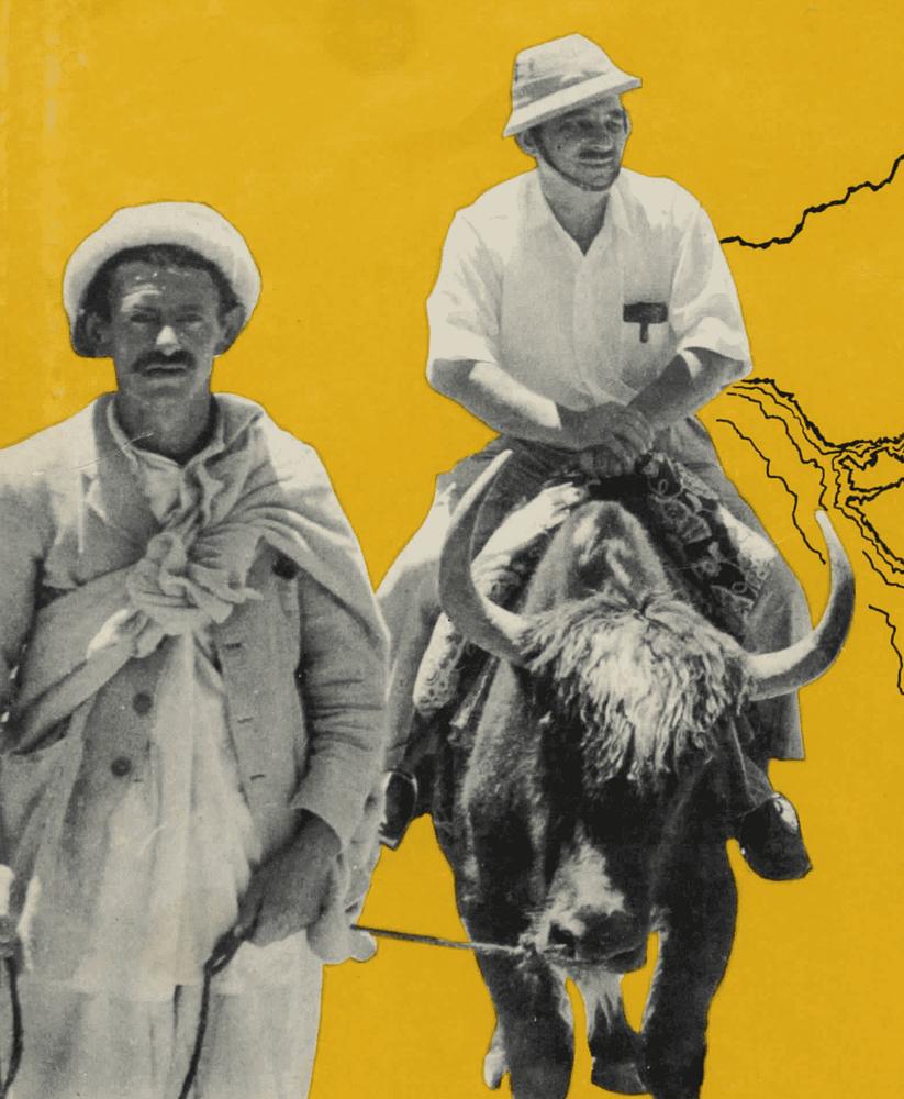 Hunza - John Tobe chevauchant un yak