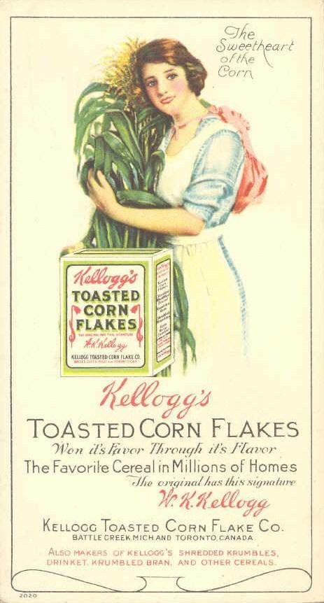 Publicité pour les cornflakes de Kellogg