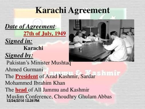 Karachi Agreement