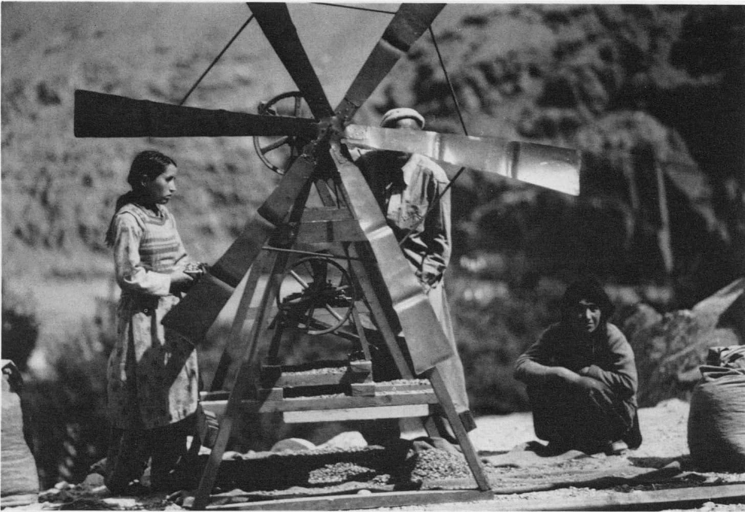 Hunza - Moulin à vent utilisé pour briser les noyaux d'abricots