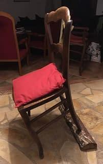 chaise inclinée