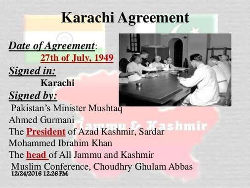 Karachi Agreement