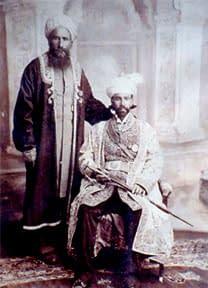 Hunza - Le Mir Muhammad Nazim Khan et son vizir Khan Bahadur Humayun Baig